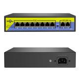 Hiseeu POE-X1010B 48-контактный 10-портовый коммутатор POE с Ethernet 10/100 Мбит / с IEEE 802.3 для системы IP-видеонаблюдения Security камера