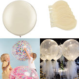 6Pcs/Set Clear 36'' Large Giant Latex Big Oval Balloon Wedding Party Decorations