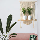 編まれたマクラメプラントハンガー壁掛けBohoes壁アートタッセル付きホームDIY吊りクラフトデコレーション