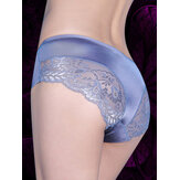 Seamless Lace Stitching Silk Comfy Low Waist Women Briefs