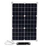 Painel solar monocristalino flexível de 20W 18V com carregador USB 12V / 5V controlador solar