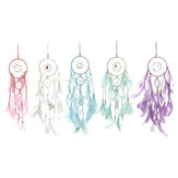 Blanco cálido Batería Suministro LED Night Light Dream Catcher Colgando Wind Chime Decoración de pared Coche Adornos