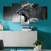 5 Panels HD Leinwand Wolf Tiger Paintings Prints Home Room Ungerahmtes Bild Kunst Wanddekoration