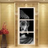 3Pcs Set Print Art Gemälde Wandbild Home Decor Ungerahmt Schwarz