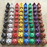 10 stuks veelvlaksdobbelstenen DND-spellen Desktopbordspellen Dobbelstenen met opbergtas