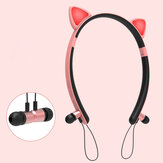 Bakeey ZW29 Cat Ear Cartoon Cute Magnetic bluetooth Earphone Headband Lighting Sports Headphone for Women Gifts