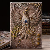 A5 Geprägte Leder Reisetagebücher Vintage Handcraft Embossed Phoenix Antique Diary Notebook