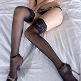 Lace Long Tube Transparent Net Stockings