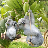 Cute Koala Hanging Swing Tree Ornament Figurine Statues Garden Sculptures Gift Decorations