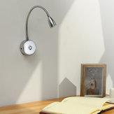 85-265 V blanc 3W LED Spot lampe de chevet livre de lecture lampe à intensité réglable