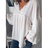 Lace Crochet Hollow Out Loose Blouse