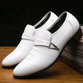 Homens couro envernizado confortáveis sapatos formais