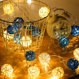 2M Bateria Alimentado Sepak Takraw Branco Quente 20LED Fairy String Light Christmas Party Holiday Decor