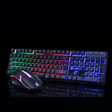 GTX300 104 teclas RGB Backlight Superthin Gaming Keyboard e 2.4GHZ 1200DPI 3 botões USB Optical Gaming Mouse