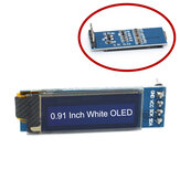 0.91 Inch 128x32 IIC I2C White OLED Display Module SSD1306 Driver IIC DC 3.3V 5V Geekcreit for Arduino - products that work with official Arduino boards