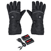 4400mAh Rechargeable Electric Battery Heated Gloves Outdoor Winter USB 6-8h Warm