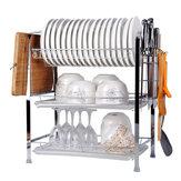 3-poziomowy zlewozmywak ociekowy z półkami Ociekacz do półek Ociekacz ze stali nierdzewnej Uchwyt kuchenny
