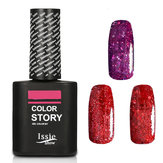 Skymore UV LED Nail Polish Set, Metal Nail Color , Nail Polish Varnish, Nail Paint, Red Brick Series with Black Bottle, Nail Enamel Gift Set For Women & Girl & Partner