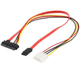 7 + 15 22Pin Serial ATA SATA to IDE 4P Hard Drive القوة محول Cable