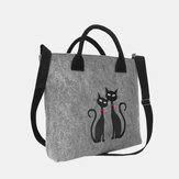 Women Crossbody Bag Cat Pattern Handbag