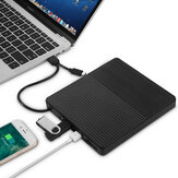 Unidade óptica externa USB 3.0 ultrafina Gravador USB-C Notebook DVD-RW DVD / CD Driver MacBook LaptopType-C para CD