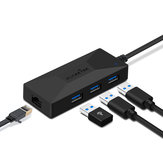 Rocketek USB3-HC01 USB 3.0 toRj45ハブギガビットイーサネットアダプター1000Mbpsfor Mi Box 3 / S 4 4c se Android TV Set-top Network Card Lan