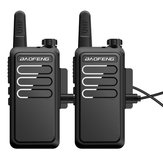 2 PCS Baofeng BF-C9 Ordinateur de poche Walkie Talkie 400-470MHz UHF Radio bidirectionnelle Ham Communicateur portable Charge USB