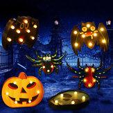 Хэллоуин LED Праздник Света Батарея Управляется Забавный Скелет Летучей Мыши Паук Лампа Партия Декор