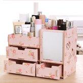 Desktop Storage Case Drewniana szuflada kosmetyczna Organizer do makijażu Pojemnik do przechowywania pojemnika do domowego biura