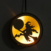 Loskii JM01491 Halloween Decorations LED Light Witches Pattern Wall Lamp For Festive Party