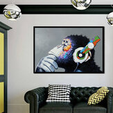 Miico Hand Painted Oil Paintings Colorful Gorilla Paintings Wall Art For Home Decoration