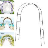 Il modo dell'arco del ferro del metallo monta il rifornimento del partito delle decorazioni floreali del giardino di promenade nuziale della festa nuziale