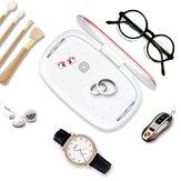 Nouvelle boîte de désinfection multifonctionnelle UV + chargeur sans fil pour téléphone portable + machine à aromathérapie lunettes stérilisateur de bijoux