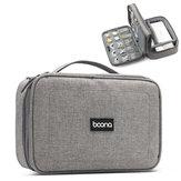 Boona 23 cm * 16 cm Double Deck Digital Zubehör Aufbewahrungstasche U Disk Speicherkarte USB Kabel Tablet Organizer Reisetasche