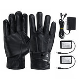 7.4V 3000mah Battery Electric Heated Gloves Warm Winter Motorcycle Gloves Touch Screen Waterproof Black
