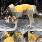 Pet Big Собака Плащ Водонепроницаемы Одежда для маленьких больших Собакаs Комбинезон Плащ от дождя Комбинезон с капюшоном Плащ Лабрадор