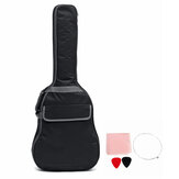 41 Inch Double Straps Padded Waterproof Shockproof Rubber Bottom Guitar Gig Bag Guitar Carrying Case