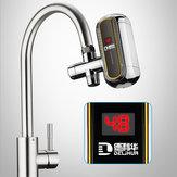3000 Watt Elektrische Durchlauferhitzer Wasserhahn Tankless Küche Instant Warmwasserhahn Heizung Digitale LCD Display Einfach Installieren Heizhahn 220 v Mit Kostenlose Installation werkzeuge