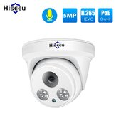 Hiseeu HC615-P-3.6 5MP 1920P POE IP Camera H.265 Audio Dome Camera ONVIF M otion Detection For PoE NVR App View