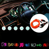 3M Flexible Neon EL Wire Light Atmosphere Car Strips Lamp Interior Decoration Strips Lighting + DC12V Driver