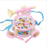 Baby Dubbelzijdig Trompetzand Hammer Handtrommels Orff Muziekinstrumenten Educatief speelgoed
