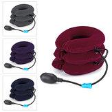 Tiga Tingkat Traksi Udara Bantal Leher Brace Dukungan Serviks Kerah Terapi Massager Perangkat Portabel untuk Perjalanan Rumah Kantor