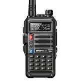 BaoFeng UV-B3 Plus Walkie Talkie VHF UHF 128 canales Bidireccional Radio CB Funk-Transceiver 8W 10km de largo alcance Enchufe AU