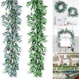 Plantas artificiais Verdura Guirlanda Salgueiro Videiras De Seda Folha Grinalda Jantar Casamento Decorações Para Casa