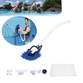 Outdoor SPA Swimming Pool Automatic Cleaner Set Maintenance Vacuum Cleaning Brush Tools Kit Water Purifier