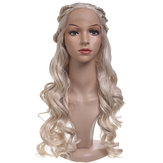 24'' Women Natural Wavy Lace Front Wig Girls Golden Blonde C