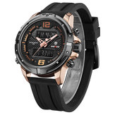 WEIDE WH8602 Casual stijl LCD-display herenpolshorloge