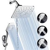 Tête de douche avec robinet ABS et finition chromée avec tuyau en acier inoxydable de 60 pouces pour salle de bain
