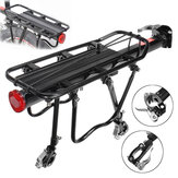25KG Maxload Aluminum Alloy Bicycle Black Rear Pannier Carrier Cargo Rack Seat Post Kit For Outdoor Mountain Bike Electric Rode Bike