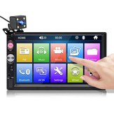 7023B 7 Inch 2 DIN Car Stereo Radio HD Touch Screen Multimedia MP5 Player FM bluetooth TF USB with Rear Camera
